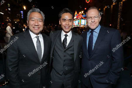 Kevin Tsujihara, Chairman and Chief Executive Officer of Warner Bros., Walter Hamada, Executive Producer, Toby Emmerich, Chairman of Warner Bros. Pictures Group,