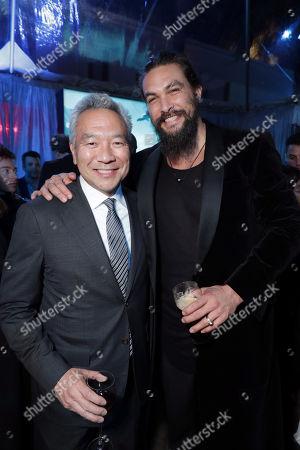 Kevin Tsujihara, Chairman and Chief Executive Officer of Warner Bros., Jason Momoa