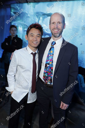 Stock Picture of James Wan, Writer/Director, David Leslie Johnson-McGoldrick, Writer,