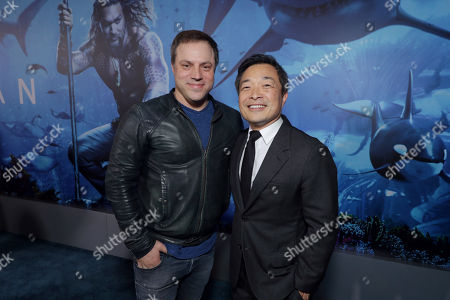 Geoff Johns, Executive Producer, Jim Lee, Chief Creative Officer and Co-Publisher of DC Entertainment,