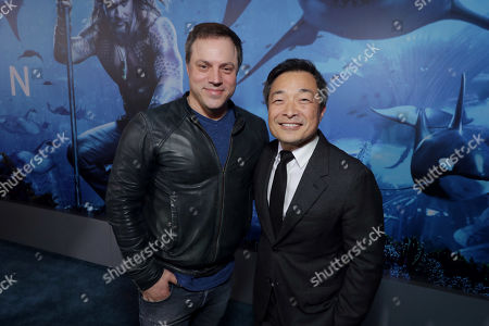 Stock Picture of Geoff Johns, Executive Producer, Jim Lee, Chief Creative Officer and Co-Publisher of DC Entertainment,