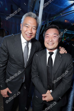 Kevin Tsujihara, Chairman and Chief Executive Officer of Warner Bros., Jim Lee, Chief Creative Officer and Co-Publisher of DC Entertainment,