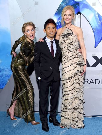 Amber Heard, James Wan and Nicole Kidman