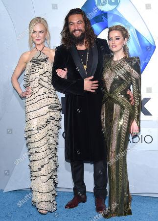 Nicole Kidman, Jason Momoa and Amber Heard