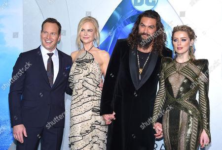 Patrick Wilson, Nicole Kidman, Jason Momoa and Amber Heard