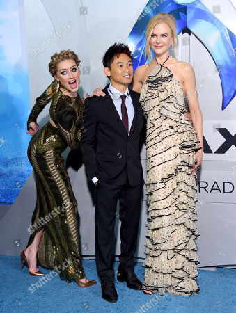"""Amber Heard, James Wan and Nicole Kidman at the world premiere of """"Aquaman'"""" held at the TCL Chinese Theatre on December 12, 2018 in Hollywood, CA. © O'Connor/AFF-USA.com"""