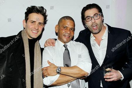 Stock Photo of Joey McIntyre, Benny Medina (Producer), Adam Ray
