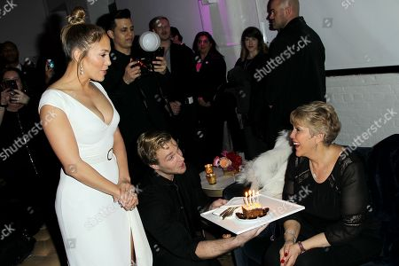 Jennifer Lopez with Mom Guadalupe Rodriguez (Birthday Cake)