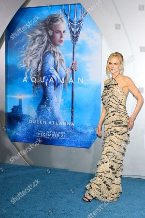 Nicole Kidman attends the world premiere of Aquaman at the TCL Chinese Theatre IMAX in Hollywood, California, USA, 12 December 2018. The movie opens in the US on 21 December 2018.