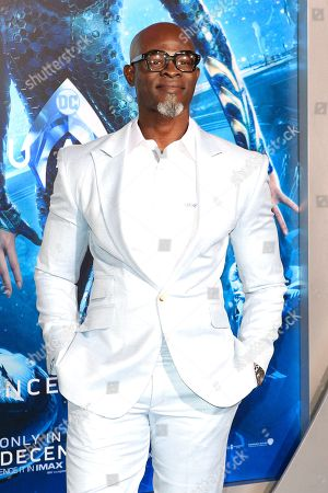 West African actor/cast member Djimon Hounsou attends the world premiere of Aquaman at the TCL Chinese Theatre IMAX in Hollywood, California, USA, 12 December 2018. The movie opens in the US on 21 December 2018.