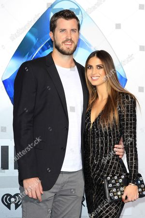 Stock Photo of Boston Red Sox Player Drew Pomeranz (L) and Carolyn Esserman (R) attend the world premiere of Aquaman at the TCL Chinese Theatre IMAX in Hollywood, California, USA, 12 December 2018. The movie opens in the US on 21 December 2018.