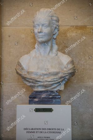 Stock Image of Olympe de Gouges Statue seen at the National Assembly.