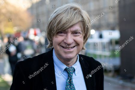 Stock Picture of Michael Fabricant MP speaking in College Green.