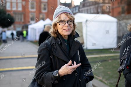 Economist Vicky Pryce seen in College Green.