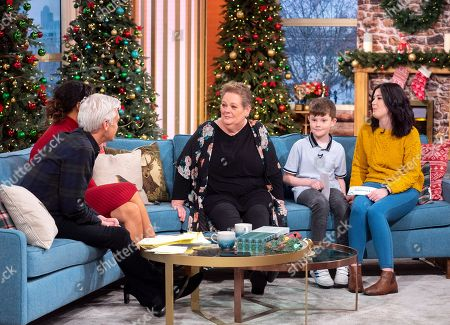 Phillip Schofield and Rochelle Humes with Anne Hegerty and Joseph Hughes