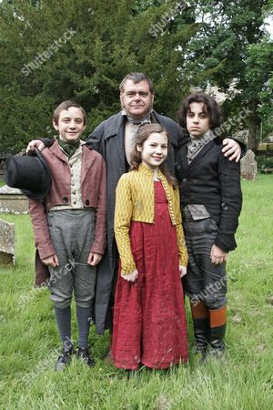 'Wuthering Heights'  TV  - 2009 - Kevin R. McNally as Mr Earnshaw, Joseph Taylor as young Hindley, Alexandra Pearson as young Cathy, Declan Wheeldon as young Heathcliff.