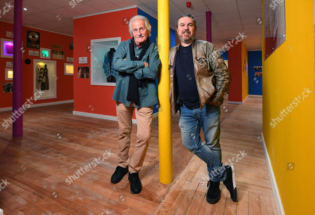 Pete Best and his half brother, Roag Best at Roag's Magical History Museum in Mathew Street