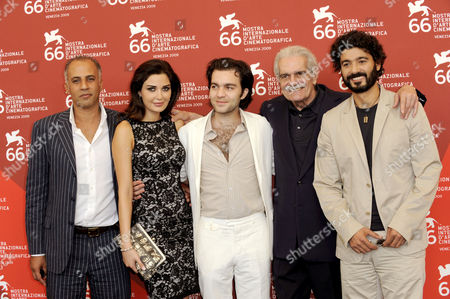 Director Ahmed Maher, Cyrine AbdelNour, actor Sherif Ramzy, actor Omar Sharif, actor Khaled Elnabawy
