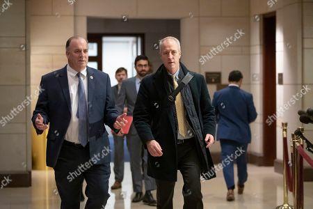 Stock Image of Dan Kildee, Sean Patrick Maloney. Rep. Dan Kildee, D-Mich., left, and Rep. Sean Patrick Maloney, D-N.Y., arrive for a classified security briefing on the murder of Jamal Khashoggi and Saudi Arabia's war in Yemen, on Capitol Hill in Washington
