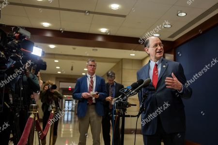 Democratic Congressman from California Brad Sherman speaks to the news media the US Capitol Visitors Center after attending a closed door briefing to members of the US House of Representatives on Saudi Arabia and Yemen in Washington, DC, USA, 13 December 2018. The killing of Saudi journalist Jamal Khashoggi was also discussed.