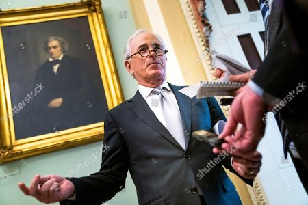 US Republican Senator from Tennessee Bob Corker speaks to the media, as the Senate prepares to vote on ending US military support for the Saudi-led war in Yemen, in the US Capitol in Washington, DC, USA, 13 December 2018. Earlier in the day, Secretary of State Mike Pompeo and Defense Secretary Jim Mattis briefed representatives on the killing of Saudi journalist Jamal Khashoggi.