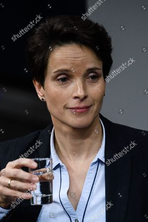 The independent member of Parliament and former member of the right-wing Alternative fuer Deutschland party (AfD) Frauke Petry speaks on the occasion of a topical debate on German paragraph 218, abortion, during a session at the German parliament 'Bundestag' in Berlin, Germany, 13 December 2018.