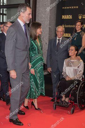 Spanish's King Felipe VI ; Spanish's Queen Letizia ; Teresa Perales