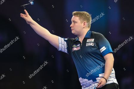 Martin Schindler during the PDC World Championship Darts at Alexandra Palace, London