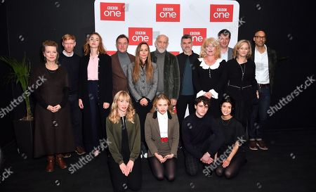 Stock Image of Freya Mavor, James Prichard, Sarah Phelps, Alex Gabassi, Tara Fitzgerald, John Malkovich, Lizzy McInnerny and the cast