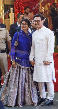 Bollywood Aamir Khan with Kiran Rao