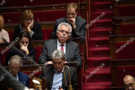 "Head of the Democratic and Republican Leftist parliamentary group (Groupe de la Gauche democrate et republicaine, GDR) Andre Chassaigne attends a debate about a motion of confidence in the French government due to the ""yellow vests"" crisis by the left-wing members of parliament  at the National Assembly in Paris, France, December 13, 2018."
