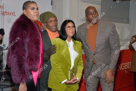 EJ Johnson, Samuel L Jackson, Cookie Johnson and Magic Johnson