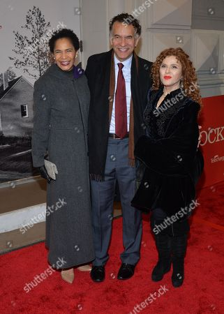 Stock Image of Ellington Stokes Mitchell, Brian Stokes Mitchell and Bernadette Peters