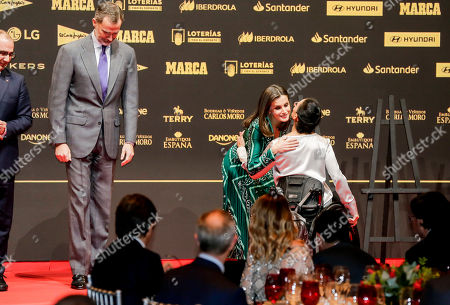 King Felipe VI, Queen Letizia and Teresa Perales