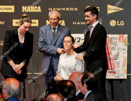 Stock Image of Federico Bahamontes, Teresa Perales and Javier Fernandez