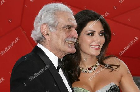 Omar Sharif and Cyrine Abdelnour