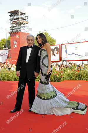 Stock Image of Omar Sharif and Cyrine Abdelnour