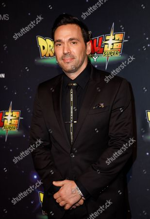 Stock Image of Jason David Frank during arrivals for the premiere of 'Dragon Ball Super: Broly' at the TCL Chinese Theater in Hollywood, California, USA, 13 December 2018.