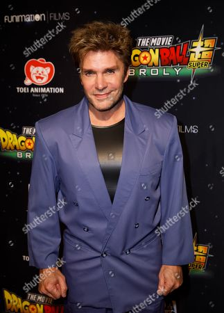 Stock Picture of Vic Mignogna during arrivals for the premiere of 'Dragon Ball Super: Broly' at the TCL Chinese Theater in Hollywood, California, USA, 13 December 2018. Mignogna voices the character of Broly in the anime film.