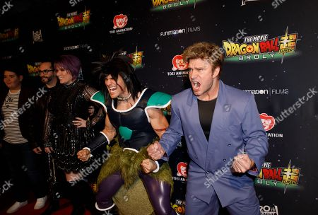 Stock Image of Vic Mignogna (R) poses during arrivals for the premiere of 'Dragon Ball Super: Broly' at the TCL Chinese Theater in Hollywood, California, USA, 13 December 2018. Mignogna voices the character of Broly in the anime film.