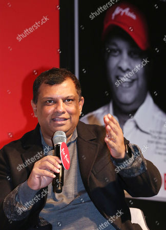 Air Asia Group's CEO Tony Fernandes speaks at a press conference for the release of his autobiography titled 'Flying High' in Korean, in Seoul, South Korea, 14 December 2018.