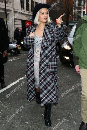 Rita Ora at BBC Radio 2 studios