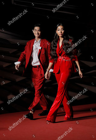 Bae Jung-nam, Moon Gabi. South Korean model-actor Bae Jung-nam, left, and model Moon Gabi pose for photos on the red carpet of the Mnet Asian Music Awards (MAMA) in Hong Kongi