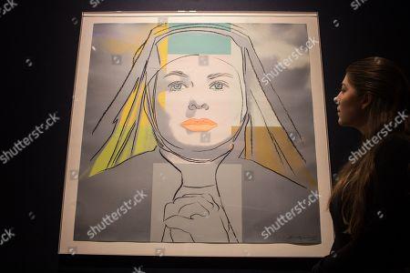 Stock Photo of Andy Warhol?s The Nun, from Ingrid Bergman. Estimate: £30,000-50,000
