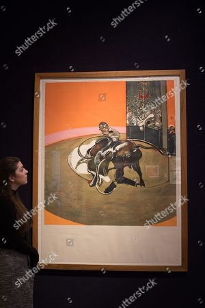 Francis Bacon (British, 19009-1992) Étude pour une corrida (Sabatier 10) Lithograph in colours, 1971, on Arches wove paper signed in felt tip pen, numbered 139-150 in pencil. Estimate 30,000 -50,000