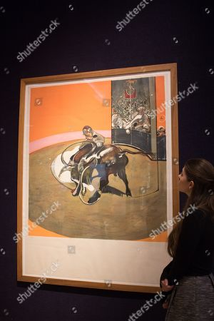 Francis Bacon(British, 19009-1992) Étude pour une corrida (Sabatier 10) Lithograph in colours, 1971, on Arches wove paper signed in felt tip pen, numbered 139-150 in pencil. Estimate 30,000 -50,000