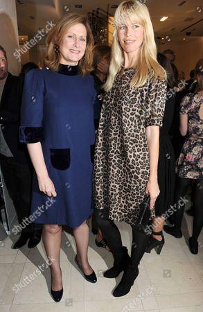 Sarah Brown and Claudia Schiffer