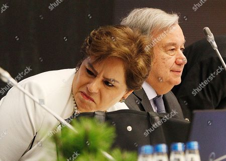 Patricia Espinosa, Antonio Guterres. Executive Secretary of UN Climate Change Patricia Espinosa, left, and UN Secretary General, Antonio Guterres,right, attend the COP24 summit in Katowice, Poland