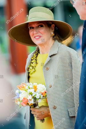 Queen Maxima attends a boat baptism, Rotterdam