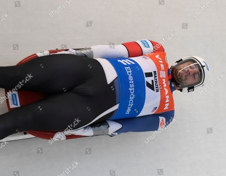 Chris Mazdzer, of the United States, takes a training run for the luge World Cup, in Lake Placid, N.Y. Competition begins on Saturday